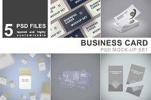 Business Card Mockup Set - 5 PSD