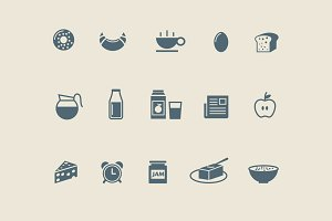 15 Breakfast Icons