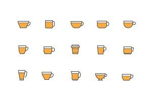 15 Cup and Mug Icons