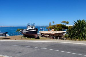 Fishing Port Dock Boats Ocean Stock