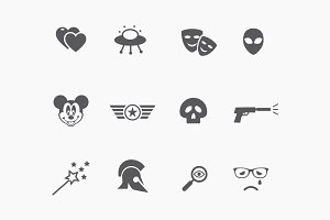 15 Movie Genre Icons