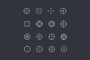 16 Crosshair Icons