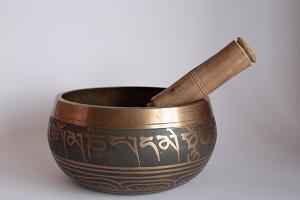 Tibetan metal bowl
