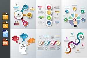 Diagrams for business infographic v6