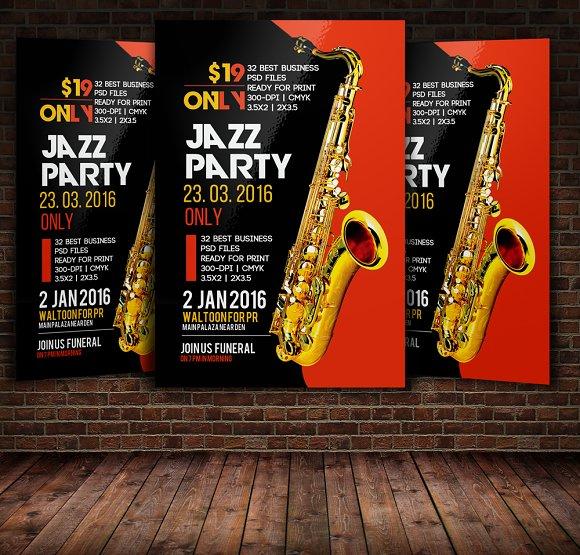 Jazz Festival Flyer Poster