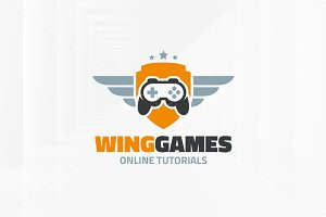 Wing Games Logo Template