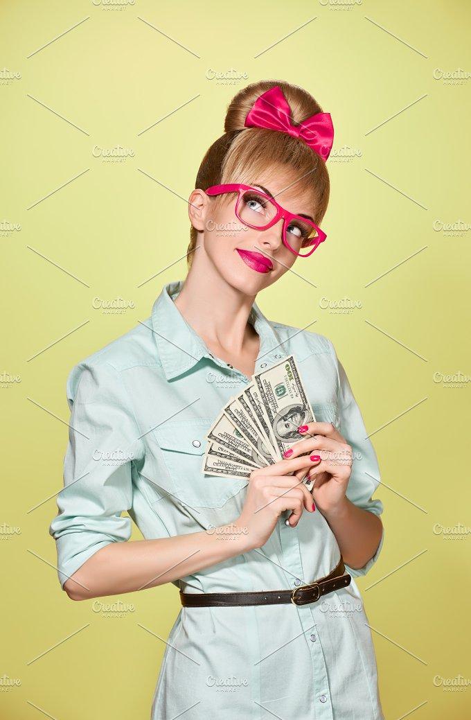 Beauty fashion. Money,business woman - Beauty & Fashion