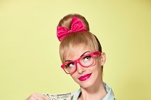 Beauty fashion. Money,business woman