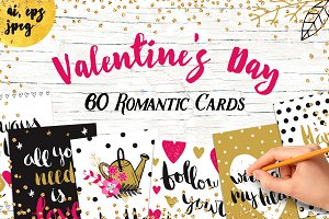 60 Valentine's Day Romantic Cards #1