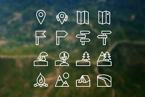 16 Camping Icons