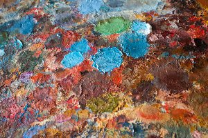 oil-paint palette