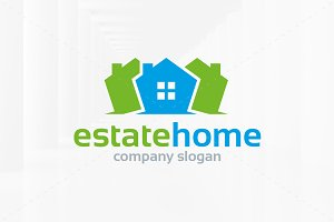 Estate Home Logo Template