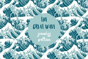 The Great Wave - Seamless Pattern