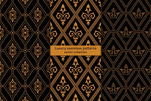 Luxury seamless patterns