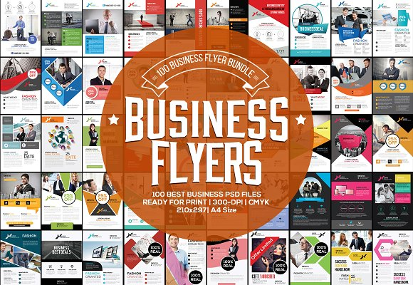 100 fresh business flyers bundle flyer templates creative market