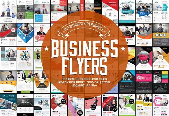 100 fresh business flyers bundle flyer templates creative market