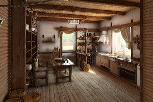 Ukrainian ethnic style kitchen