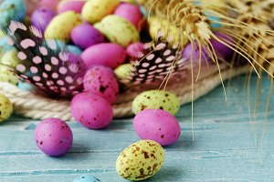 Easter colored eggs