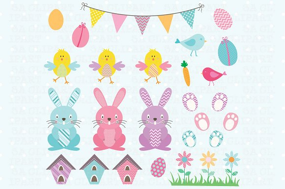 Easter ClipArt  in Illustrations - product preview 1