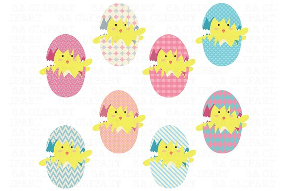 Easter Eggs Clip Art ~ Illustrations on Creative Market