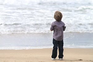 boy watching the sea