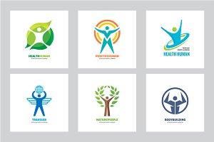 Human Character Vector Logo Set