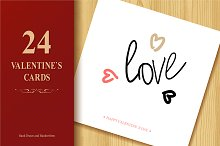 Valentine`s Day Greeting Cards