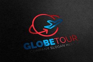 Globe Tour & Travel Logo