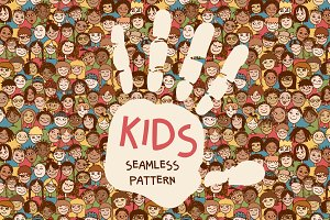 Kids - Seamless Pattern