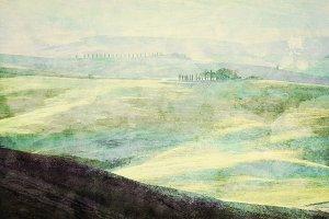 Painting of Tuscany landscape.