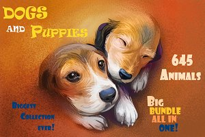 Dogs and Puppies 645 Animals PNG
