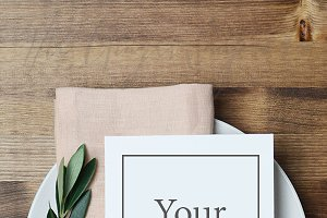 Blush and Olive Branch Place Setting