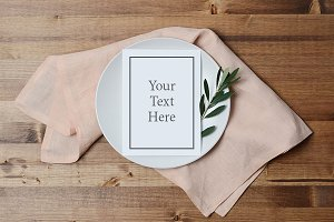 Blush and Olive Menu Mockup