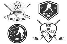 Logos for the hockey team. Vector