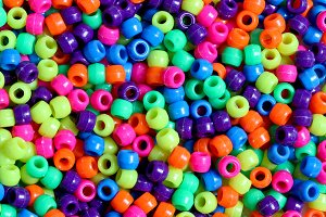 Multicolored beads background