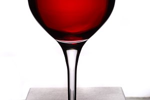 Glass with reed wine