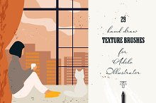 29 Hand draw vector texture brushes by  in Add-Ons