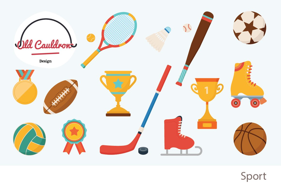 Sport clipart vector graphics cl007 illustrations for Sports clipart