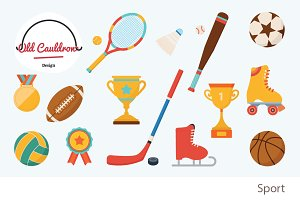 Sport clipart, vector graphics CL007