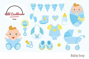 Baby boy clipart CL011