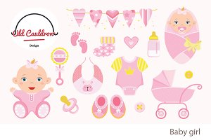 Baby girl clipart CL011