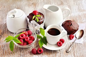 Chocolate muffins & morning coffe