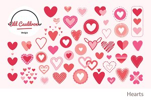Hearts vector cliparts CL018