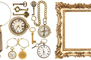 Set golden vintage goods JPG