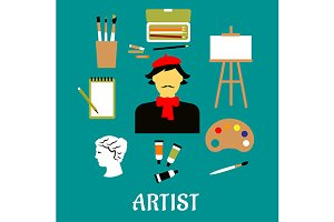 Artist profession and art icons