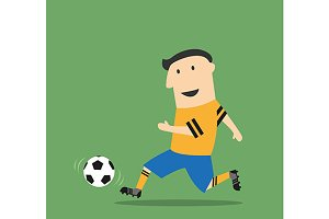 Football or soccer cartoon player