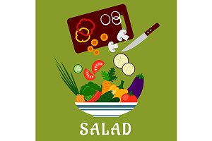 Salad preparation process