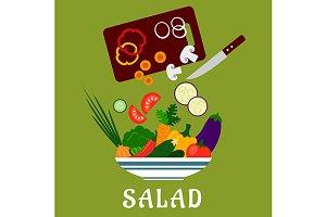 Salad preparation process