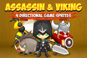 Assassin & Viking - Game Sprites