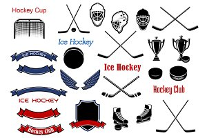 Ice hockey sporting game elements
